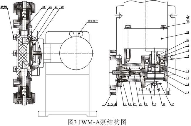 jwm-a隔膜计量泵结构示意图